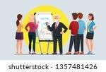 business professor explaining... | Shutterstock .eps vector #1357481426