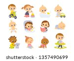 set of baby  characters.... | Shutterstock .eps vector #1357490699
