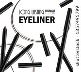 beautiful eyeliner pen poster... | Shutterstock .eps vector #1357495799