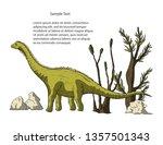 diplodocus dinosaur in its...   Shutterstock .eps vector #1357501343