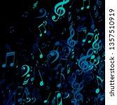 falling musical signs. trendy...   Shutterstock .eps vector #1357510919