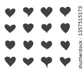 heart icons set isolated on... | Shutterstock .eps vector #1357515173