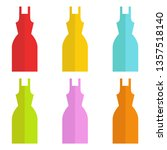 Set Of Dresses. Multicolored Of ...