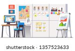 political campaign office with... | Shutterstock .eps vector #1357523633