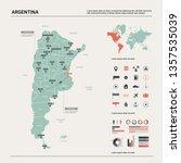 vector map of argentina . high...   Shutterstock .eps vector #1357535039