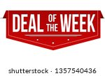 deal of the week banner design... | Shutterstock .eps vector #1357540436