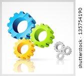 vector gear symbol elements | Shutterstock .eps vector #135754190