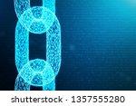 block chain concept  digital... | Shutterstock . vector #1357555280