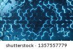 abstract blue of futuristic... | Shutterstock . vector #1357557779