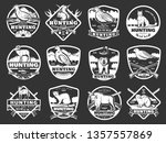 hunter club badges and hunting... | Shutterstock .eps vector #1357557869