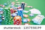 3d illustration casino game.... | Shutterstock . vector #1357558199