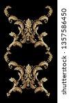 golden elements in baroque ... | Shutterstock . vector #1357586450