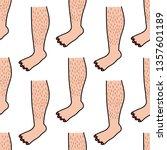 hairy legs seamless doodle... | Shutterstock .eps vector #1357601189