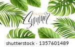 summer poster with tropical... | Shutterstock .eps vector #1357601489