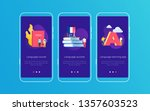 set of onboarding screens for...