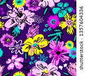 fashion colorful wallpapers.... | Shutterstock .eps vector #1357604336