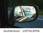 reflection of blue sky with...   Shutterstock . vector #1357613936