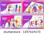 set of web page design...   Shutterstock .eps vector #1357614173