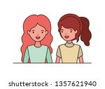 young women avatar character   Shutterstock .eps vector #1357621940