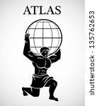 stylized atlas   eps10 vector | Shutterstock .eps vector #135762653