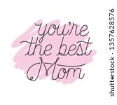 mom you are the best label icon | Shutterstock .eps vector #1357628576
