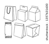 set of different packaging.... | Shutterstock .eps vector #1357631600