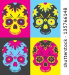 day of the dead vector pop art | Shutterstock .eps vector #135766148
