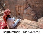 asian woman traveler sitting on ...   Shutterstock . vector #1357664090