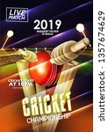 illustration of cricket... | Shutterstock .eps vector #1357674629