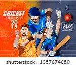 illustration of cricket... | Shutterstock .eps vector #1357674650