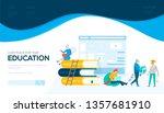 online education vector landing ...