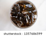 soft drinks with ice  ready to... | Shutterstock . vector #1357686599