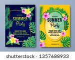summer party flyer template... | Shutterstock .eps vector #1357688933