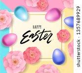 happy easter hand lettering...   Shutterstock .eps vector #1357689929