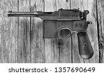 antique german broomhandle... | Shutterstock . vector #1357690649