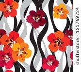 flower seamless background.... | Shutterstock .eps vector #135769724