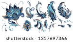 set of beautiful paisley | Shutterstock .eps vector #1357697366