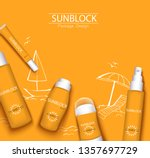 mono color orange trendy... | Shutterstock .eps vector #1357697729