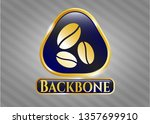 gold emblem or badge with... | Shutterstock .eps vector #1357699910