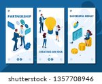 isometric template app business ... | Shutterstock .eps vector #1357708946