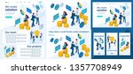 set template article  landing... | Shutterstock .eps vector #1357708949