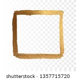 gold frame paint brush vector... | Shutterstock .eps vector #1357715720
