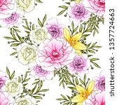 abstract elegance seamless... | Shutterstock .eps vector #1357724663