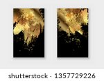 black and gold design templates ... | Shutterstock .eps vector #1357729226