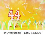 forty four years birthday.... | Shutterstock . vector #1357733303