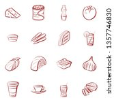 food images. background for... | Shutterstock .eps vector #1357746830