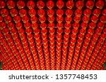 red chinese lanterns shine for... | Shutterstock . vector #1357748453