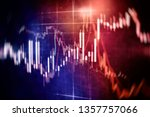 abstract glowing forex chart... | Shutterstock . vector #1357757066