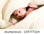 beautiful white baby boy with... | Shutterstock . vector #135777224