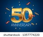 template logo 50 years... | Shutterstock .eps vector #1357774220
